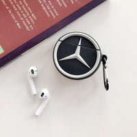 Luxury Car Logo Wireless Earphone Case For Apple AirPods 1/2 Silicone Headphones Case for Airpods Protective Cover Accessories