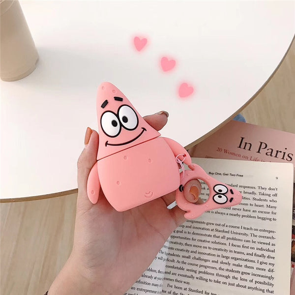 Cartoon Protective Case for AirPods 1 2 3 Cute Silicone Bluetooth Earphone Case for Airpods pro Unique 3D Design Patrick Star