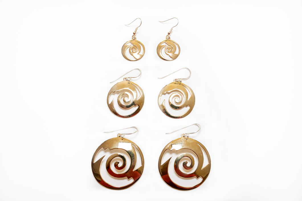 Remolino Bronze Earrings