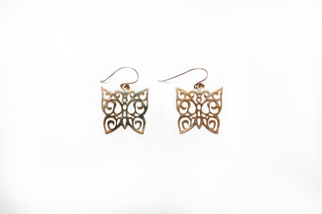 Mariposa Bronze Earrings