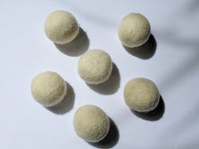 Load image into Gallery viewer, five of the white wool dryer balls