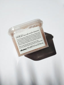 a jar of solu sea salt scrub cleanser by Davines
