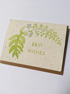 Best Wishes Plantable Card