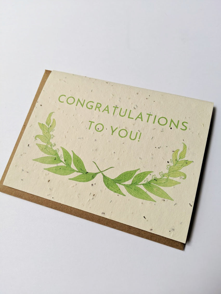 Congratulations Plantable Card