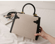 Load image into Gallery viewer, LE MIEN CANVAS CROSSBODY BLACK BAG - STRIPES