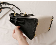 "Load image into Gallery viewer, LE MIEN ""MARGAUX"" CANVAS CROSSBODY BLACK BAG - STRIPES"
