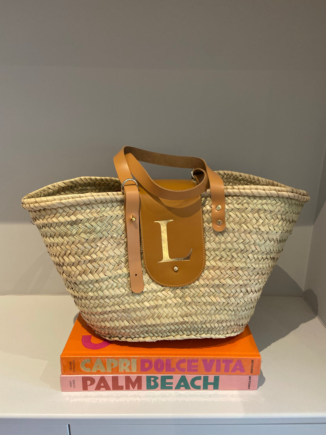 LE.MIEN PERSONALISED BASKET BAG - GOLD EMBOSSED