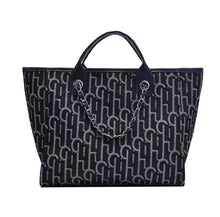 Load image into Gallery viewer, LE MIEN ALBA DARK BLUE PATTERN TOTE