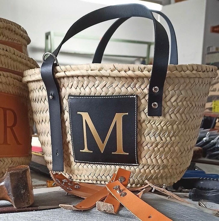 LE.MIEN PERSONALISED BASKET BAG - Black