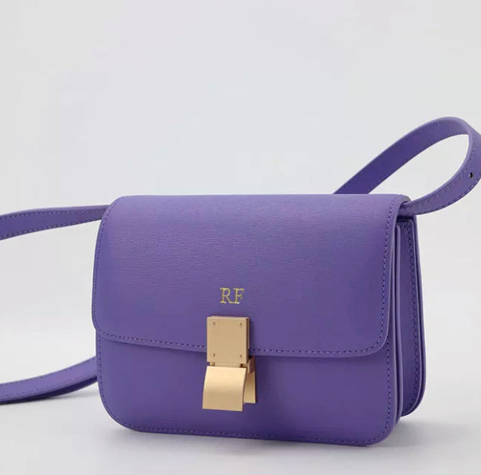 "LE MIEN ""FLAP BAG"" GENUINE LEATHER CROSSBODY"