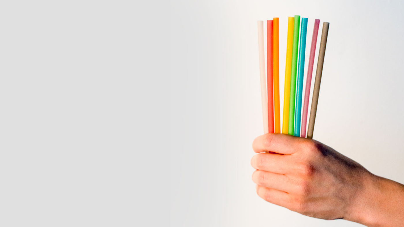 Sustainable pasta straws. 100% biodegradable eco-friendly drinking straws