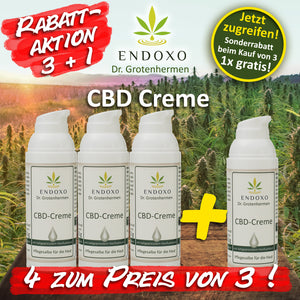 Aktion Endoxo CBD-Creme 3+1
