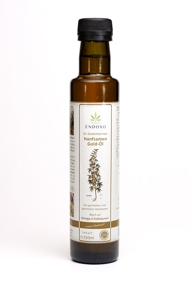 Hemp seeds gold oil 250ml - available now!