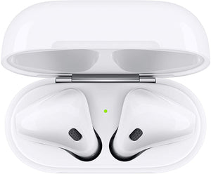 Apple AirPods With Charging Case Bluetooth Headset With Mic (Brand New)(AirPodS 2)