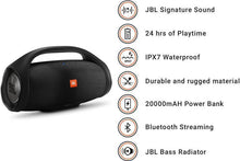 Load image into Gallery viewer, JBL Boombox Bluetooth Party Speaker (Black, Stereo Channel) - Certified Refurbished