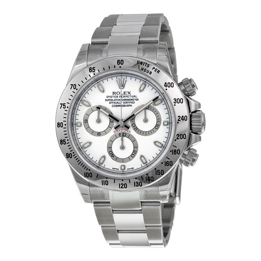 ROLEX Cosmograph Daytona White Dial Stainless Steel Automatic Men's Watch