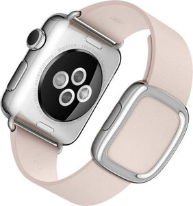 Apple Watch 38 mm Stainless Steel Case (Pink Strap Small) (Certified REFURBISHED)