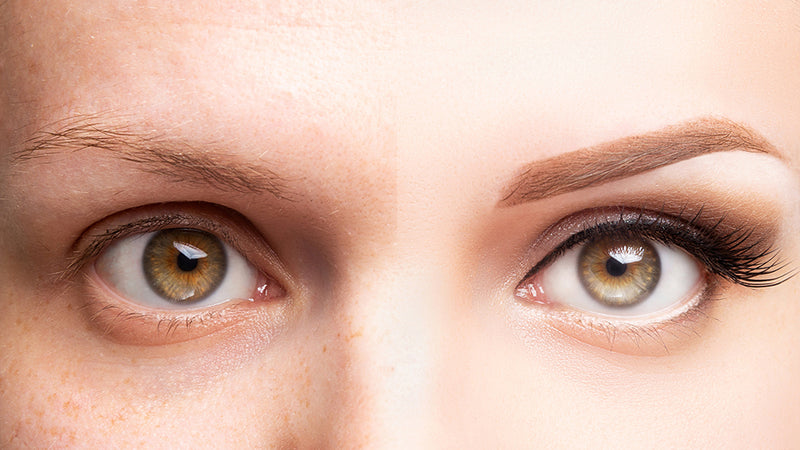an example of before and after eyebrow tinting