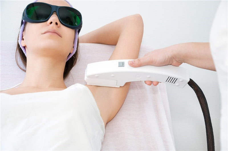 ipl laser machine removing hair from armpit