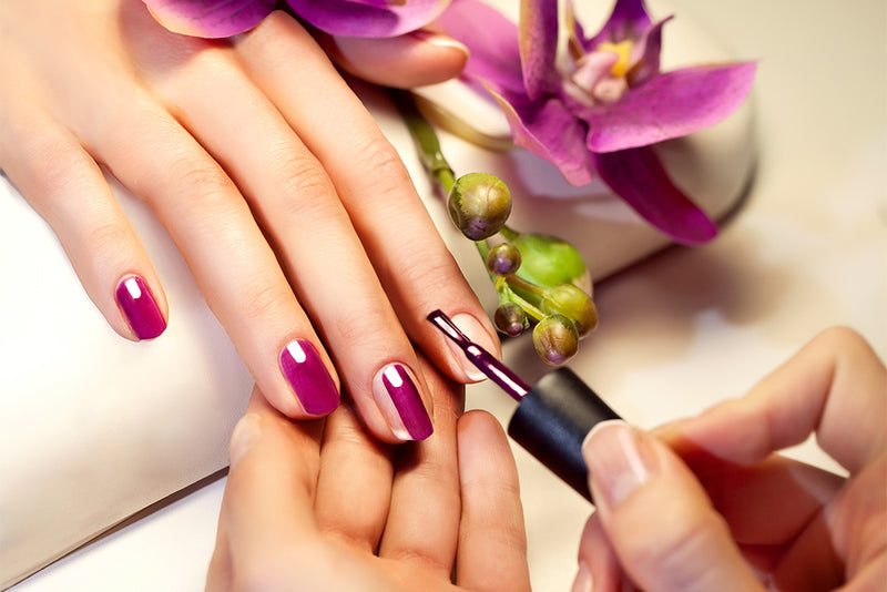 manicure purple gloss gel polish
