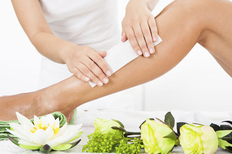 leg waxing strips preformed by our therapists