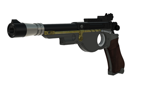 The Mandalorian Blaster with working trigger 3D Files