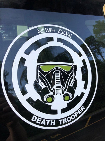 "Death Trooper 10"" Decal"