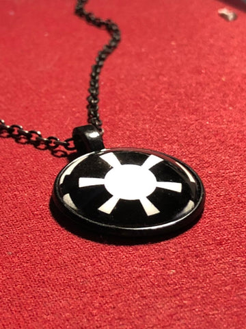 Black and white Empire Necklace