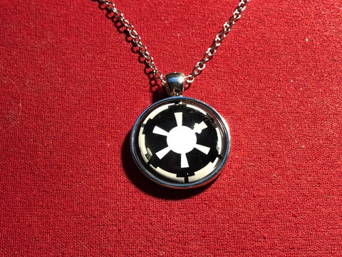 Glow in the dark Silver plated Empire Necklace