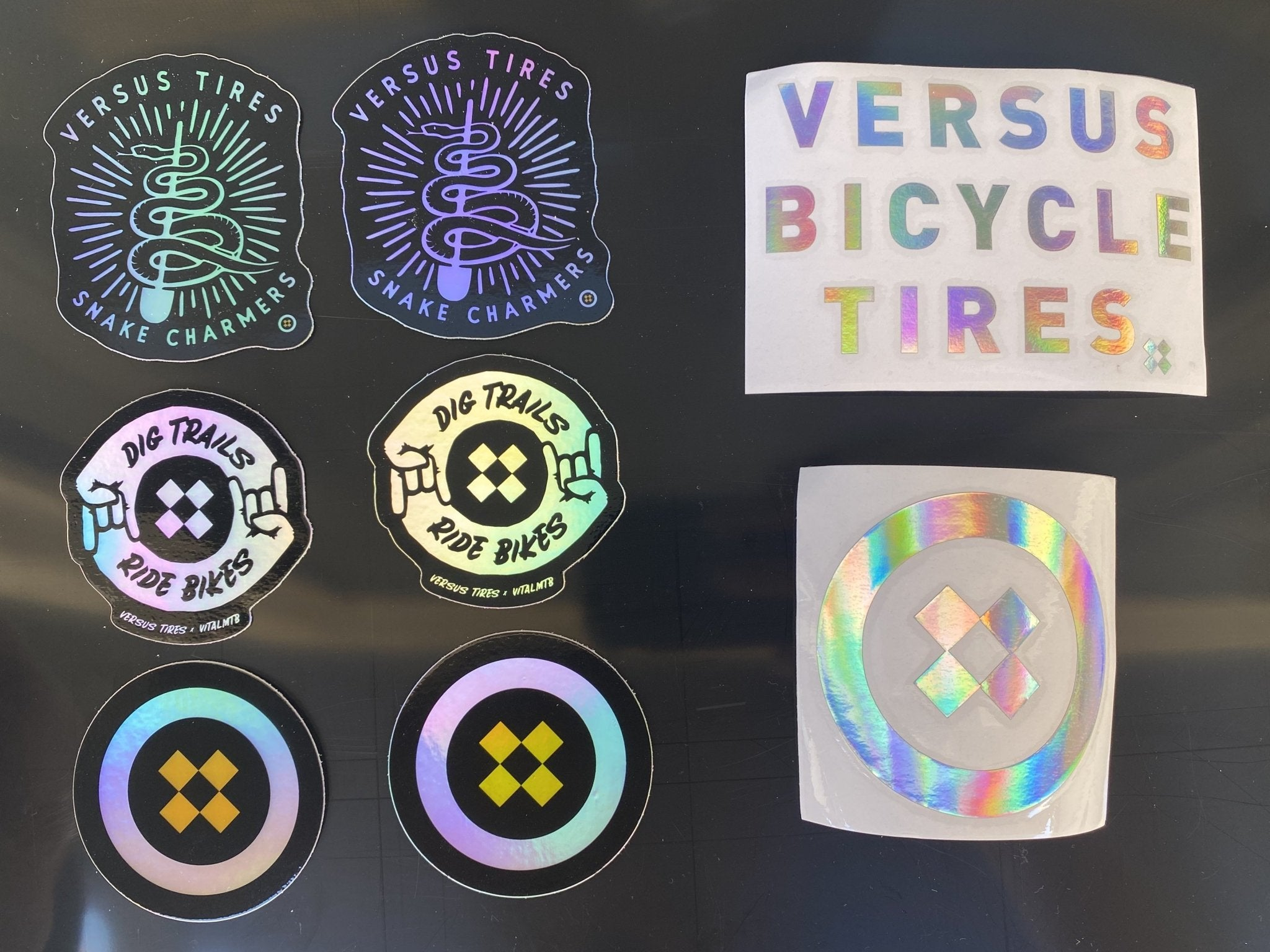 Versus // Holographic Sticker Pack (10 stickers) - Versus Bicycle Tires