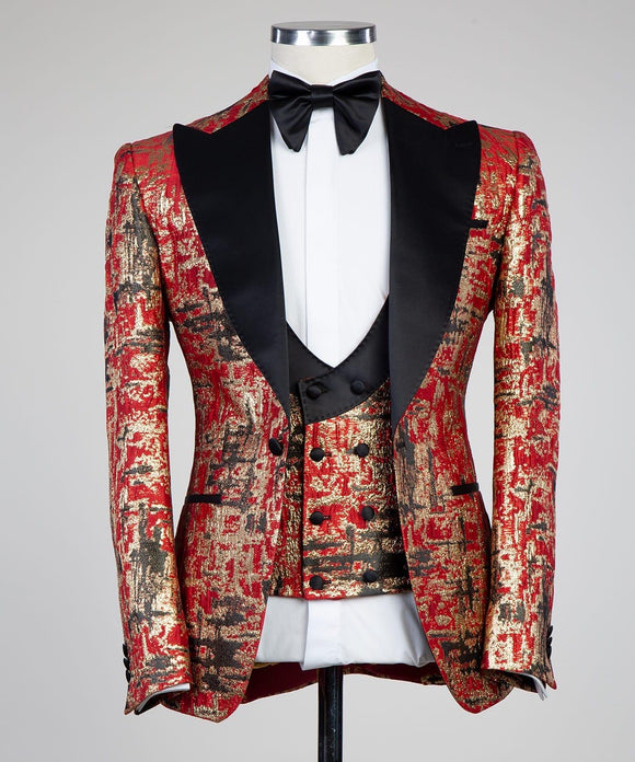 The Bold Tux (Red/Gold)