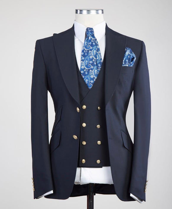 Solid 3 piece (Navy)