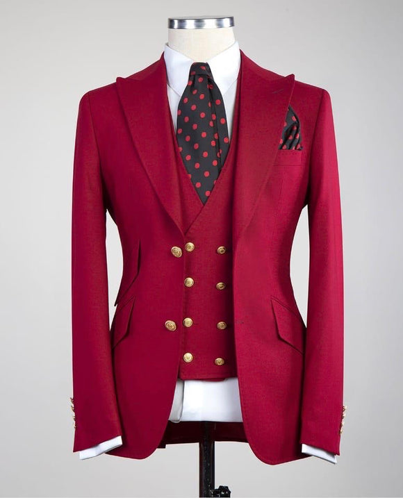Solid 3 piece (Deep Red)