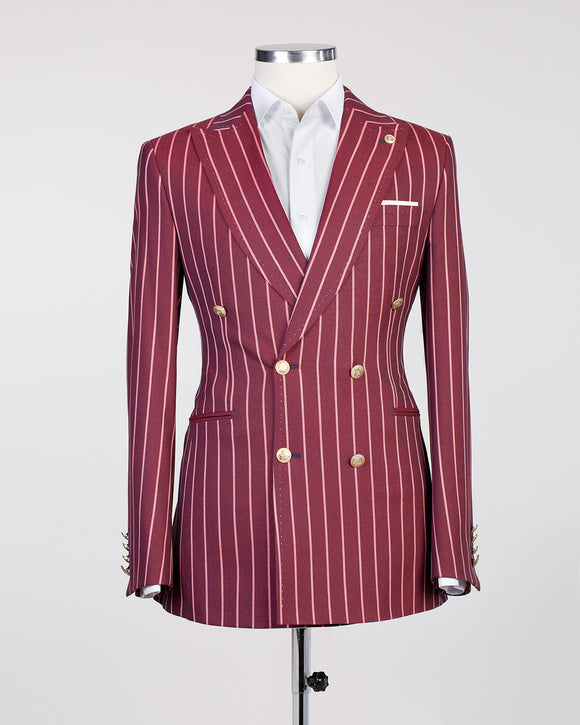 Bold Striped (Burgundy)