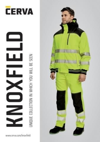 Knoxfield 310 Hi-Vis Man`s Cargo Pants with Multi Pockets Trouser Yellow