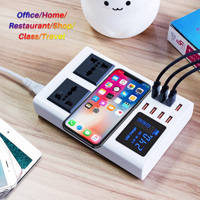 8 Ports QI wireless fast  Mobile charger