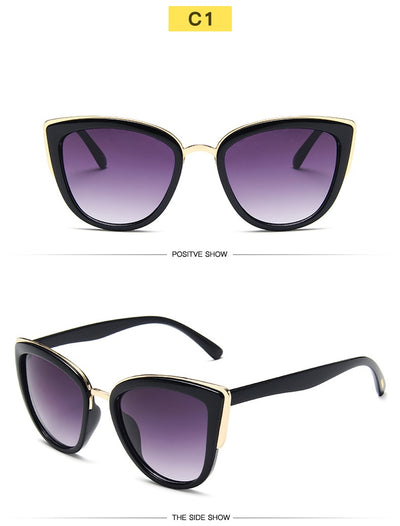Luxury Fashion Cat-eyes Sunglasses Women