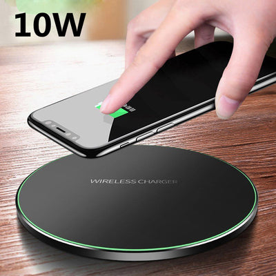 Metal Qi Wireless Charger for iPhone