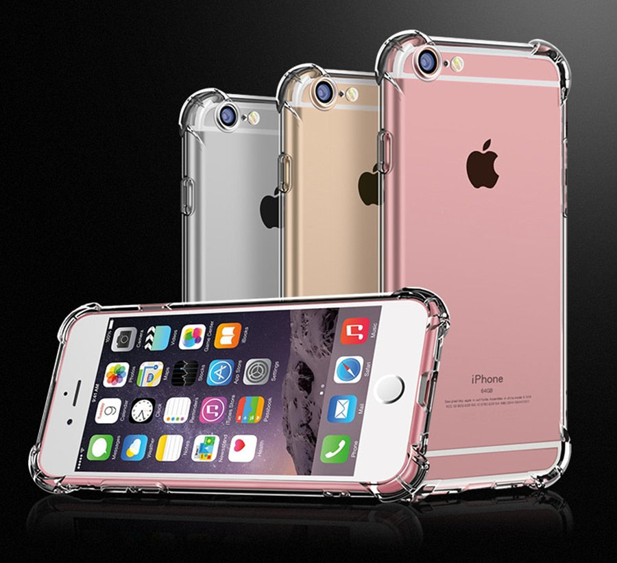 Super Shockproof Clear Soft Case for iPhone