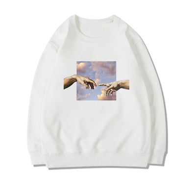 Oil Painting Michelangelo Sweatshirt