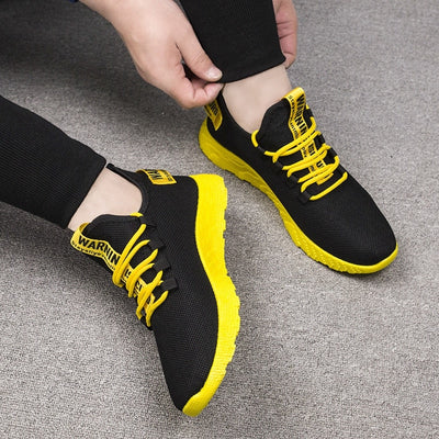 JODIMITTY Breathable Casual Air Mesh Lace up Men Sneakers