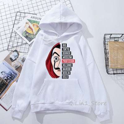 Money Heist Comfortable Hoodies for Men Women
