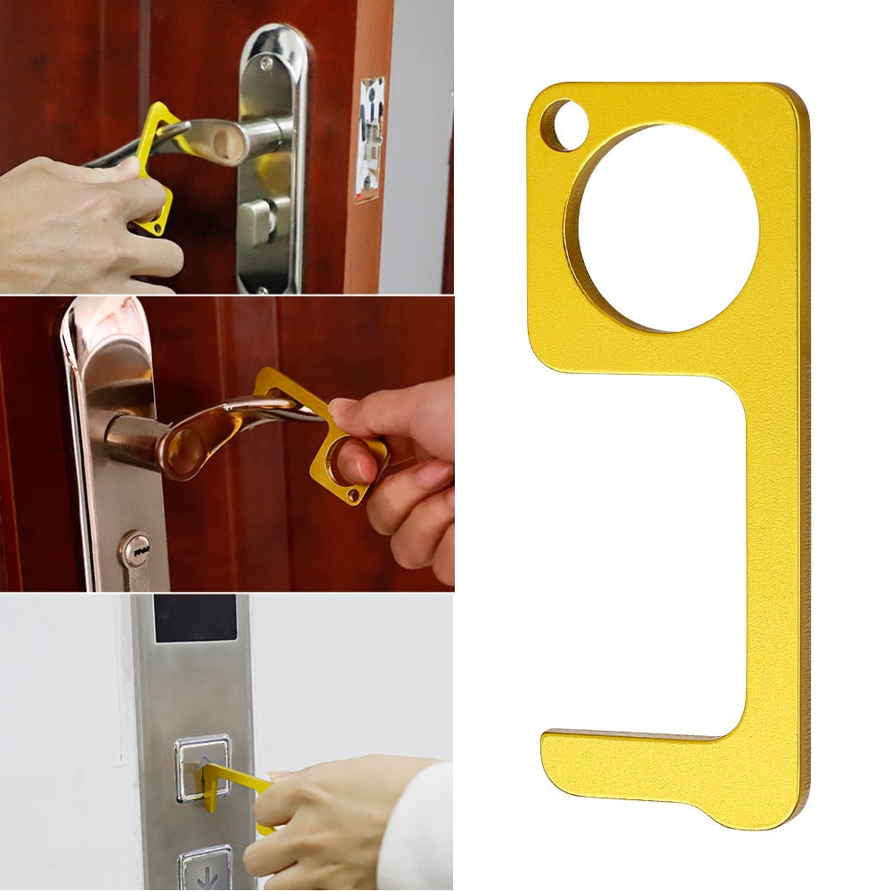 CleanKey Hygiene Hand Antimicrobial Brass Door Opener & Stylus Portable Press Tool