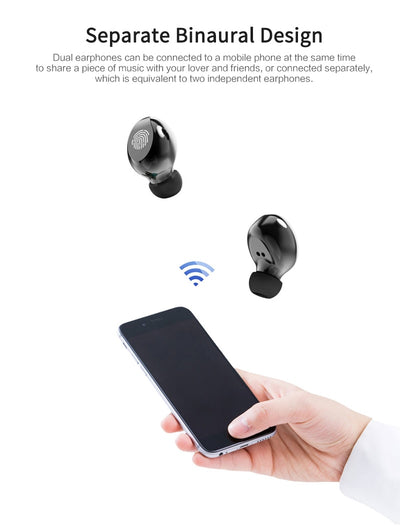 T8 TWS Wireless Bluetooth Headphones Mini Touch Noise Reduction