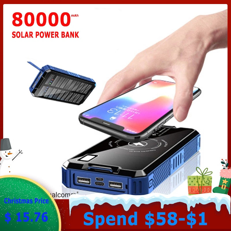 Qi Wireless Solar Power Bank