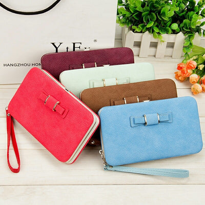 Women's Wallet Snap Coin Phone Bag Card Holder