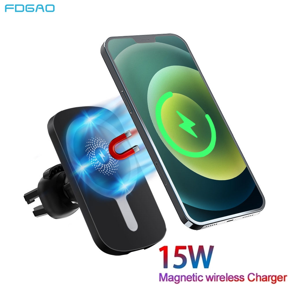 FDGAO Qi Wireless Fast Charging Car Mount For IPhone & Samsung