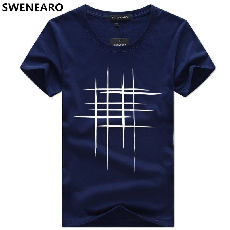 Simple Creative design line cross Print T Shirt