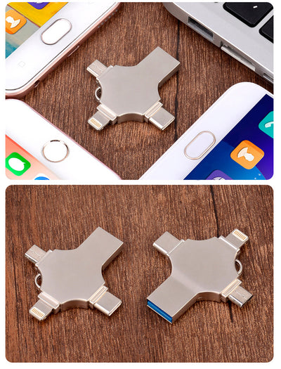 4 in 1 Multifunctional U Disk Flash Drive for iPhone Android PC