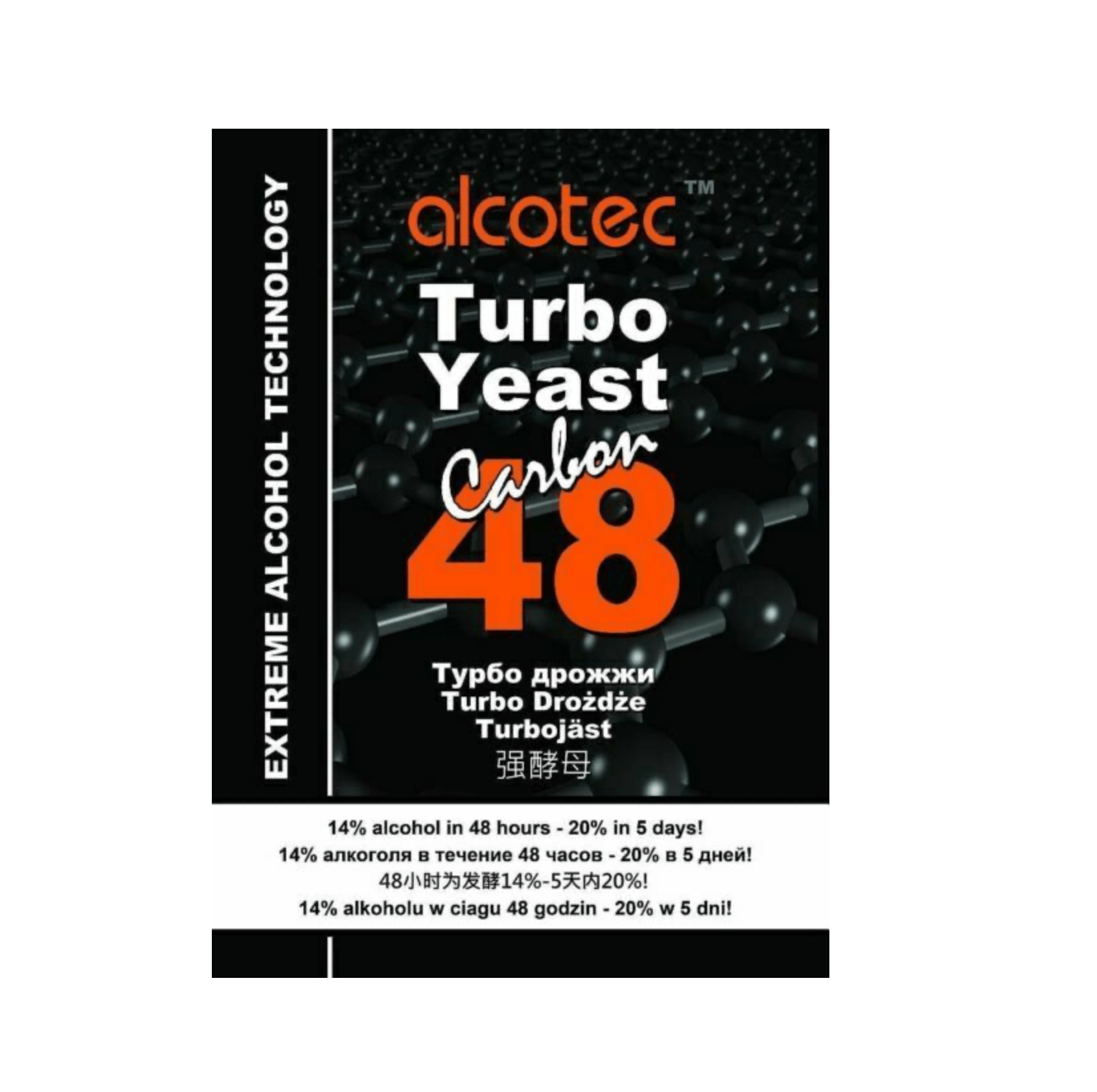 Yeast 48hr Turbo Carbon - Alcotec